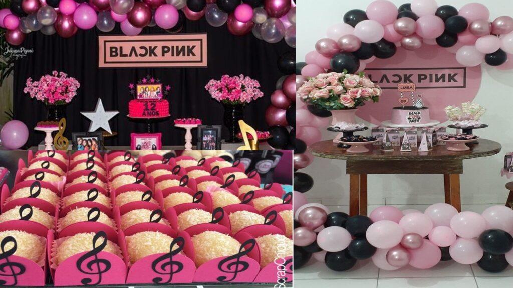21 IDEIAS PARA FESTA BLACK PINK - FAÇA SUA FESTA decoração de festa