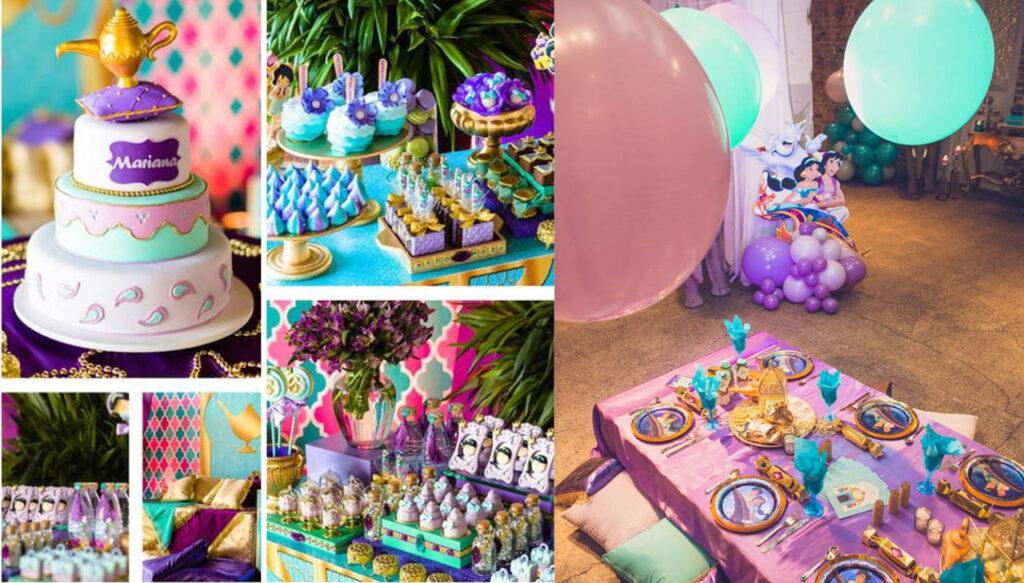 COMO MONTAR UMA FESTA DA JASMINE - decoração de festa